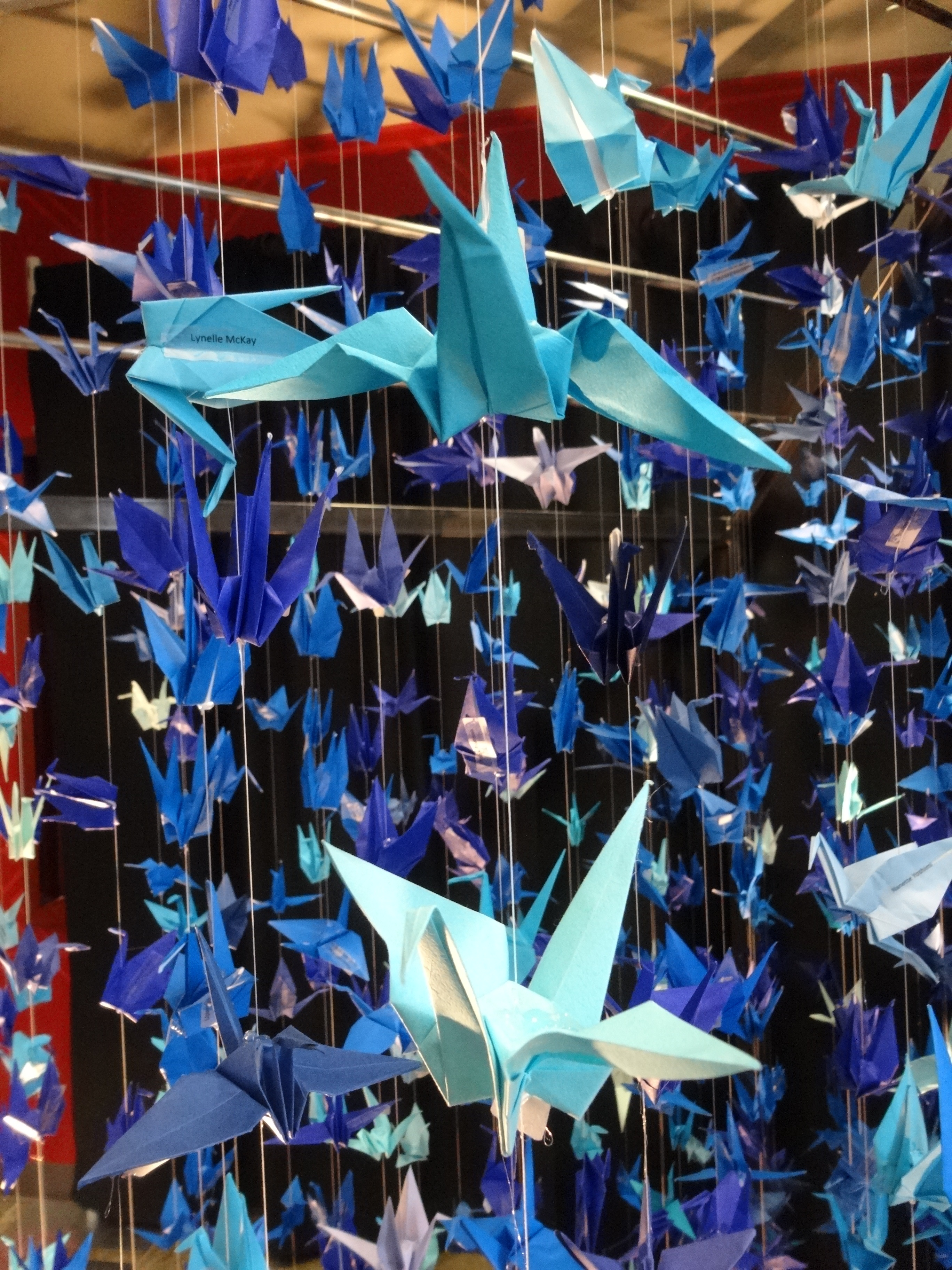 Monthly DIY: Hanging Origami Paper Cranes - Citizen Erased Photography | 3648x2736
